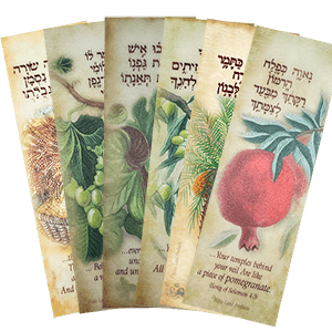 Seven Species Set of 6 Bookmarks - ONE FREE!