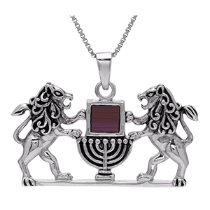 Nano Bible Necklace Silver Lion of Judah