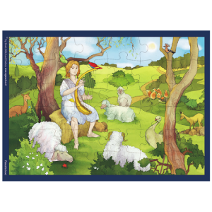 Toys and Games, David the Shepherd Puzzle, 36 pieces