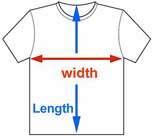 About Our T Shirt Sizes